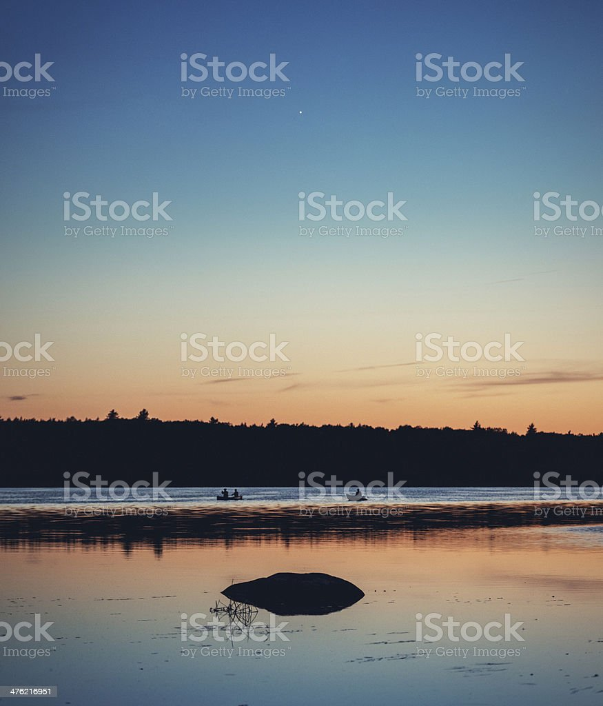 Venusian Canoeists stock photo