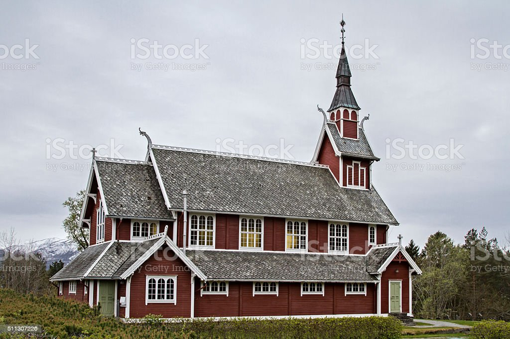 Veoy Kirke stock photo
