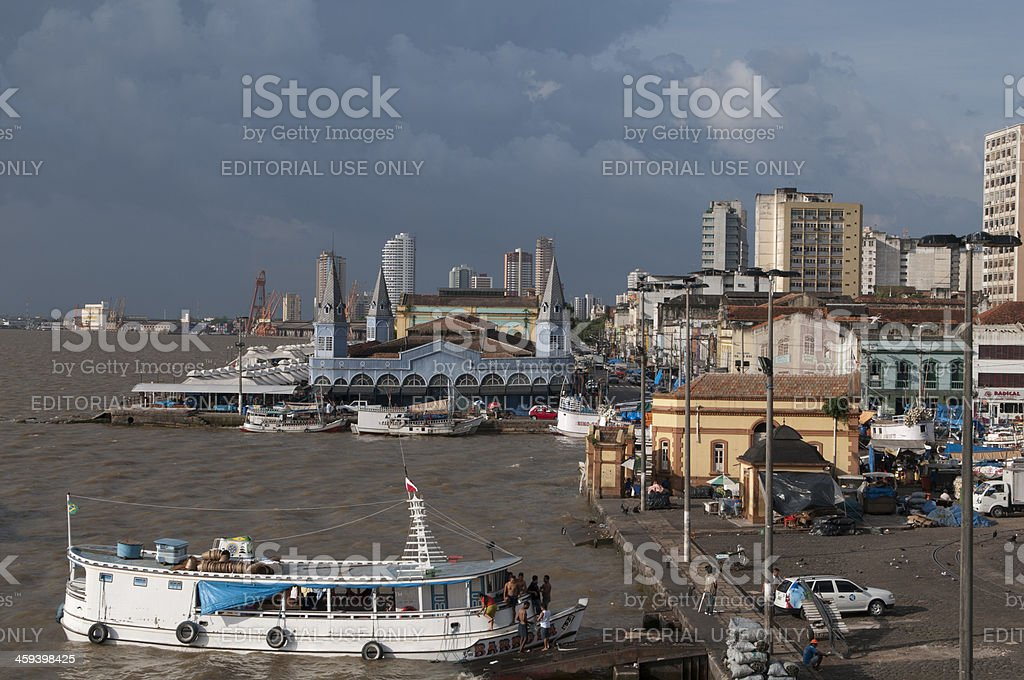Ver o Peso market harbor Belem, BR on Amazon River stock photo