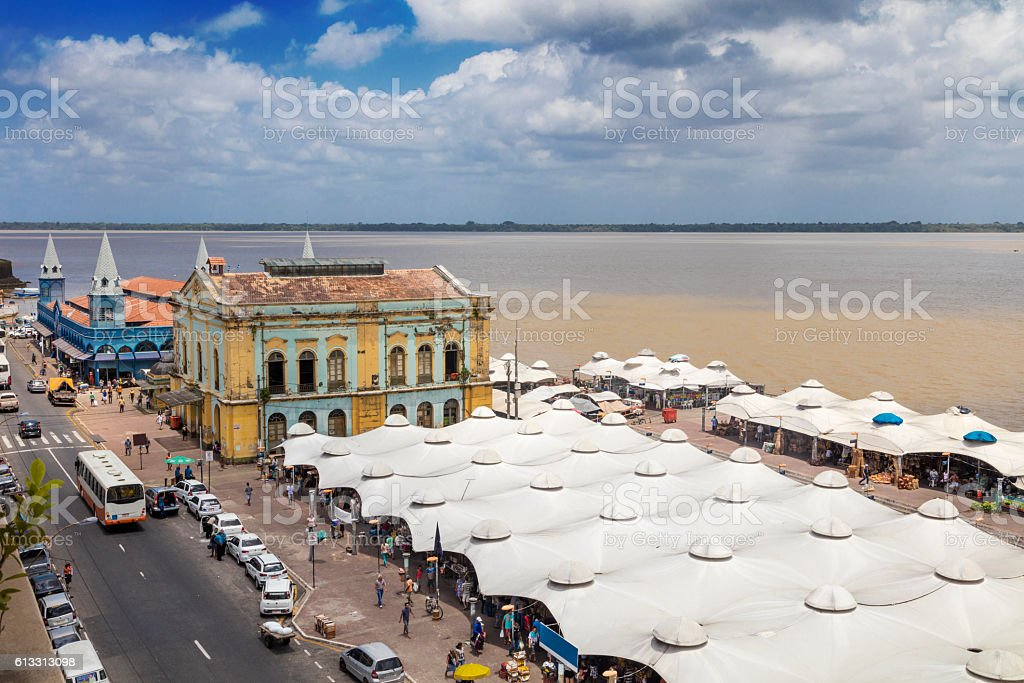 Ver o Peso Market in Belem city stock photo
