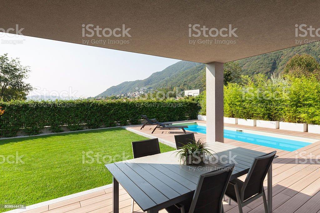 Veranda Of A Modern House stock photo 609944478 iStock