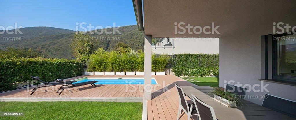 Veranda Of A Modern House stock photo 609945592 iStock