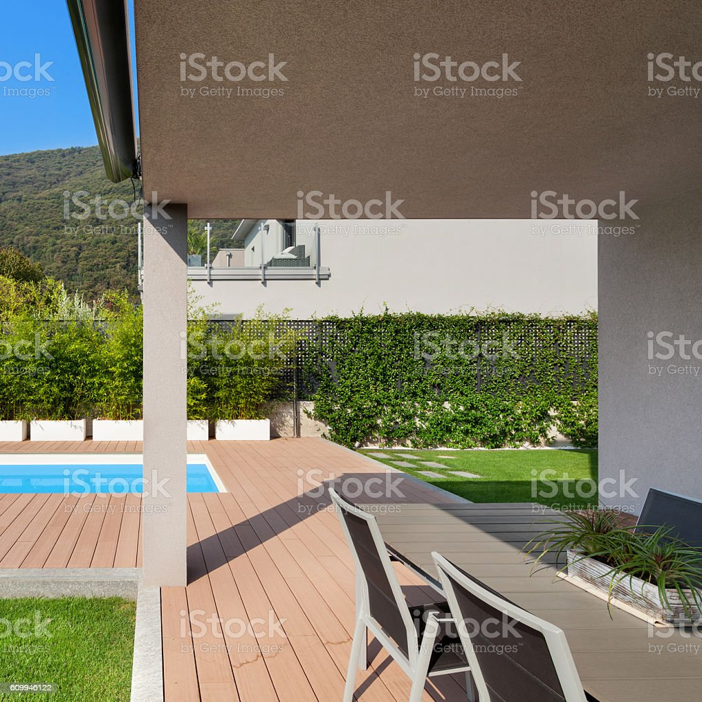 Veranda Of A Modern House stock photo 609946122 iStock
