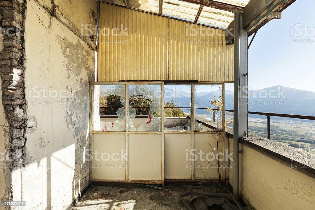 veranda of old building royalty-free stock photo