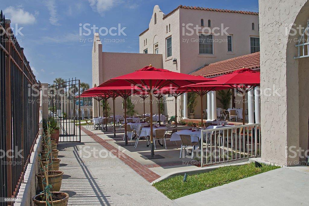veranda style eloquent dining stock photo
