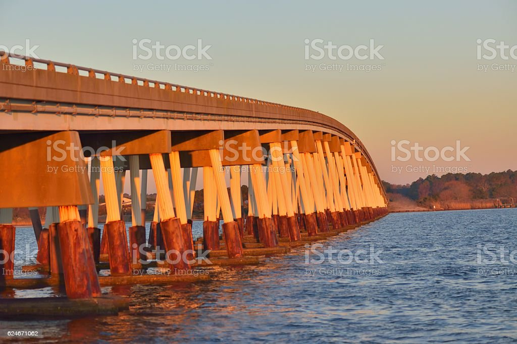 Verazano Bridge to Assateague Island stock photo