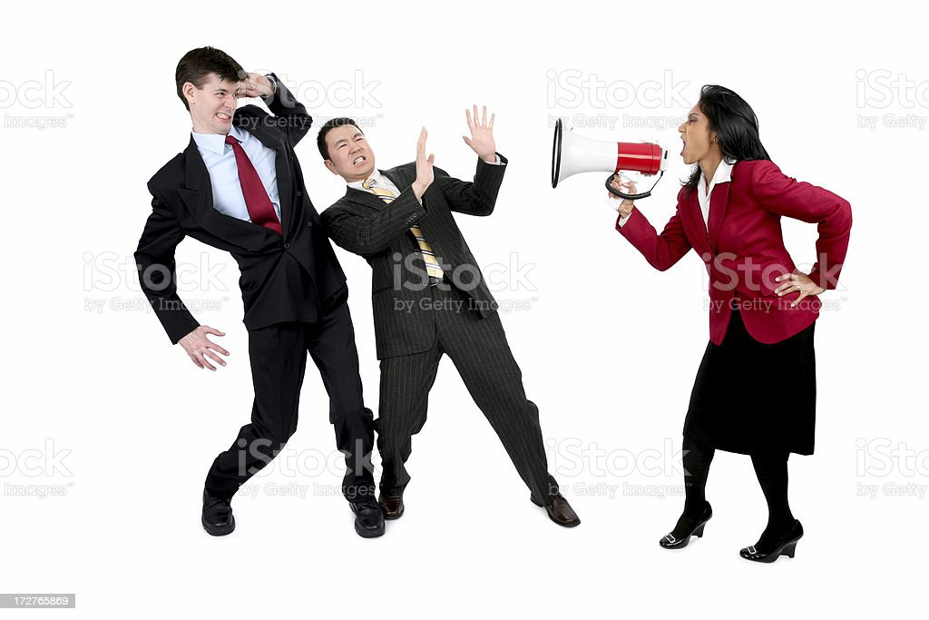 Verbal Abuse royalty-free stock photo