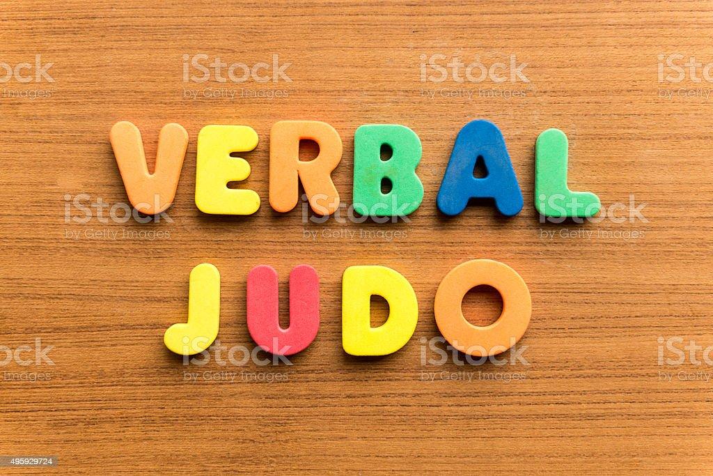 verbal judo stock photo