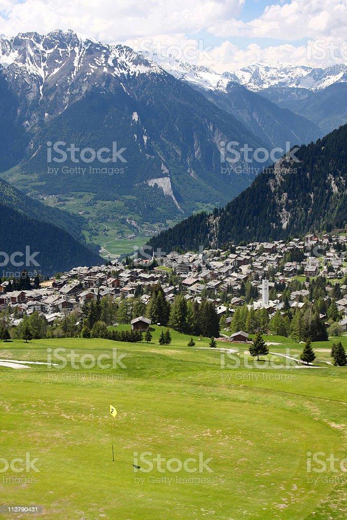 Verbier, Switzerland royalty-free stock photo