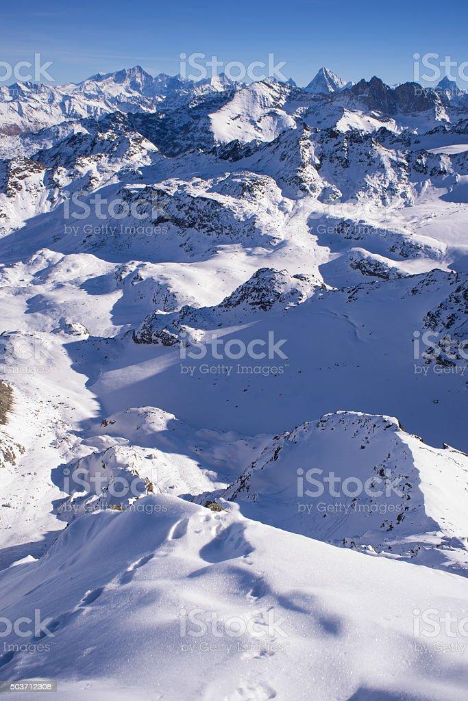 Verbier to Zermatt stock photo