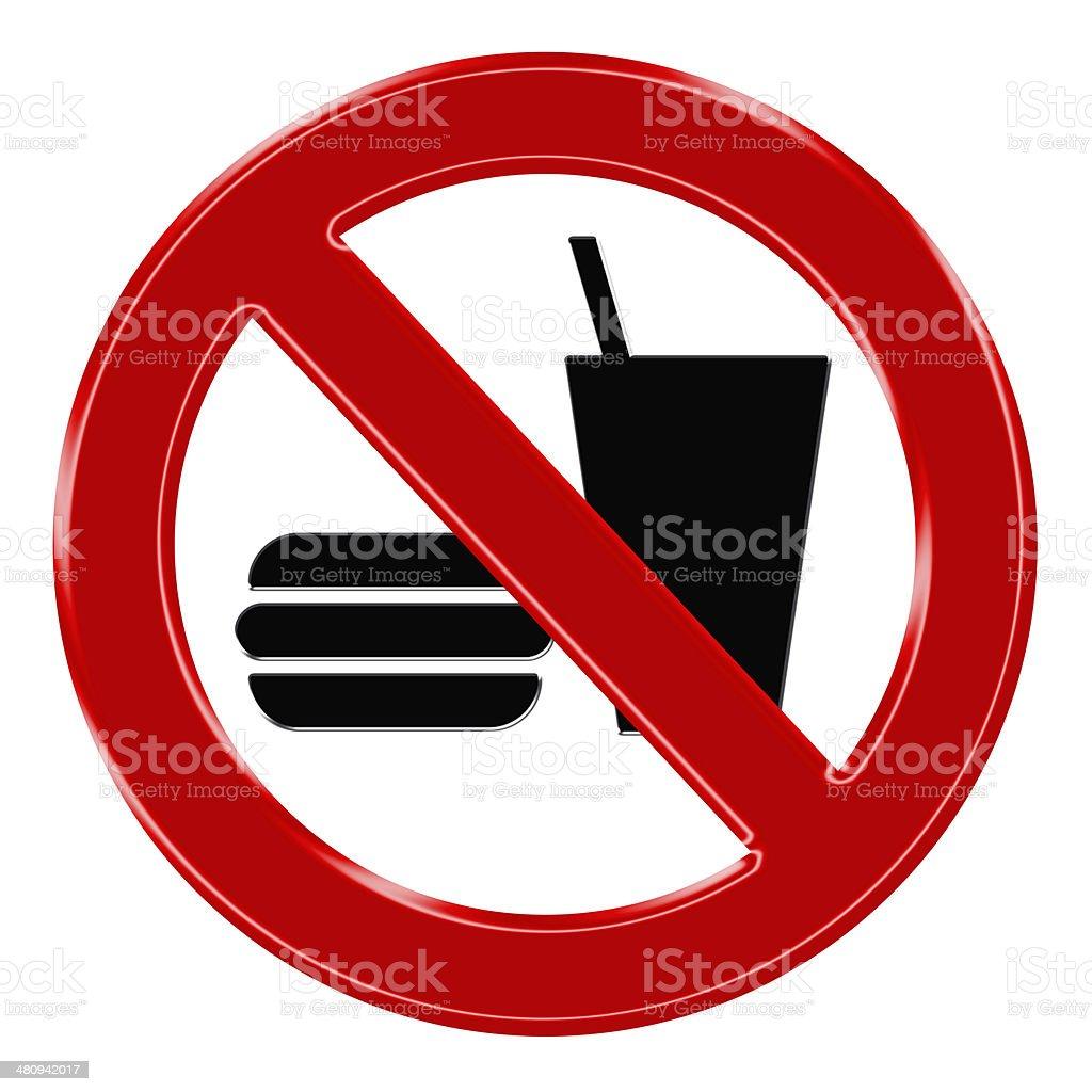 Verbotszeichen - Essen und Trinken verboten stock photo