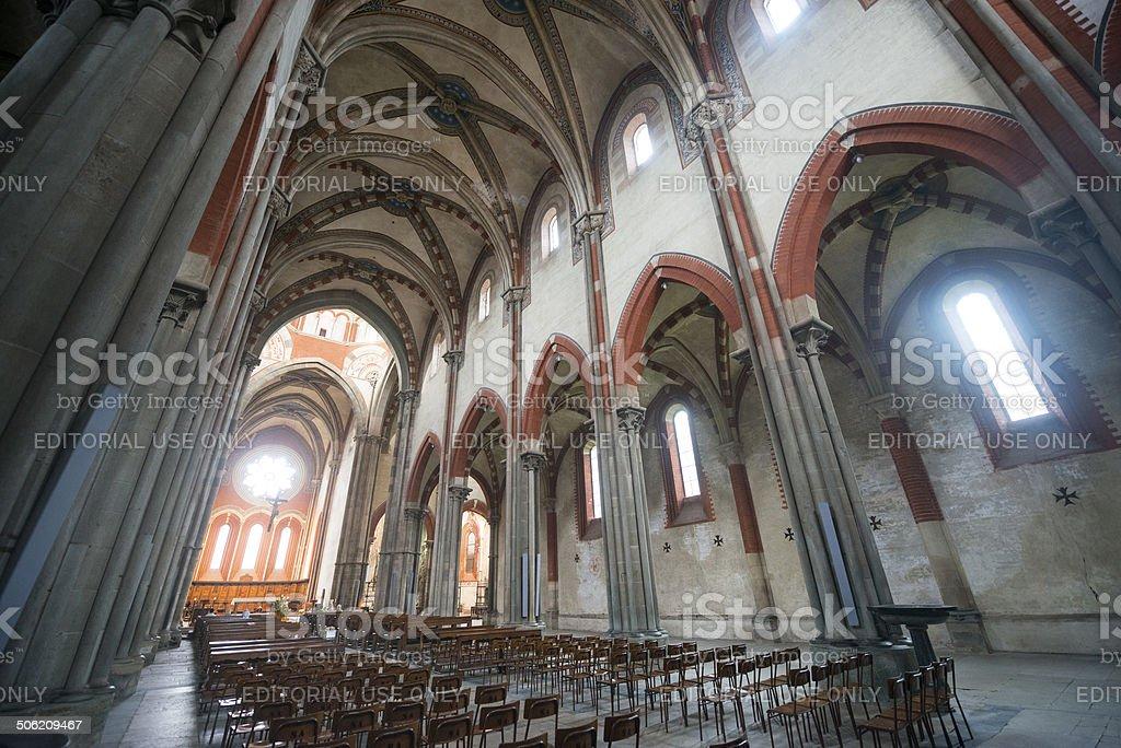 Vercelli, church of Sant'Andrea stock photo