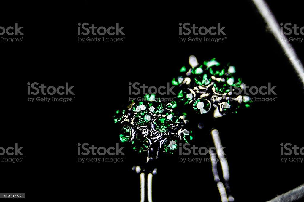 Verde piedra preciosa en primer plano stock photo