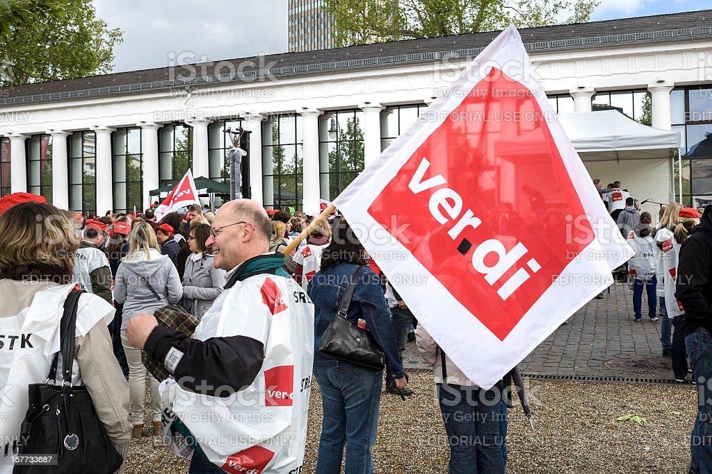 verdi demonstration stock photo