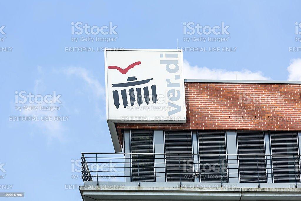 Verdi - Sign of the Labor Union stock photo