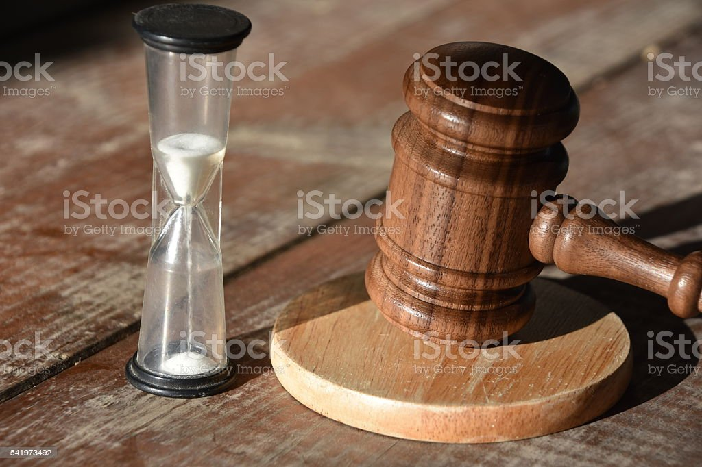 verdict Time stock photo