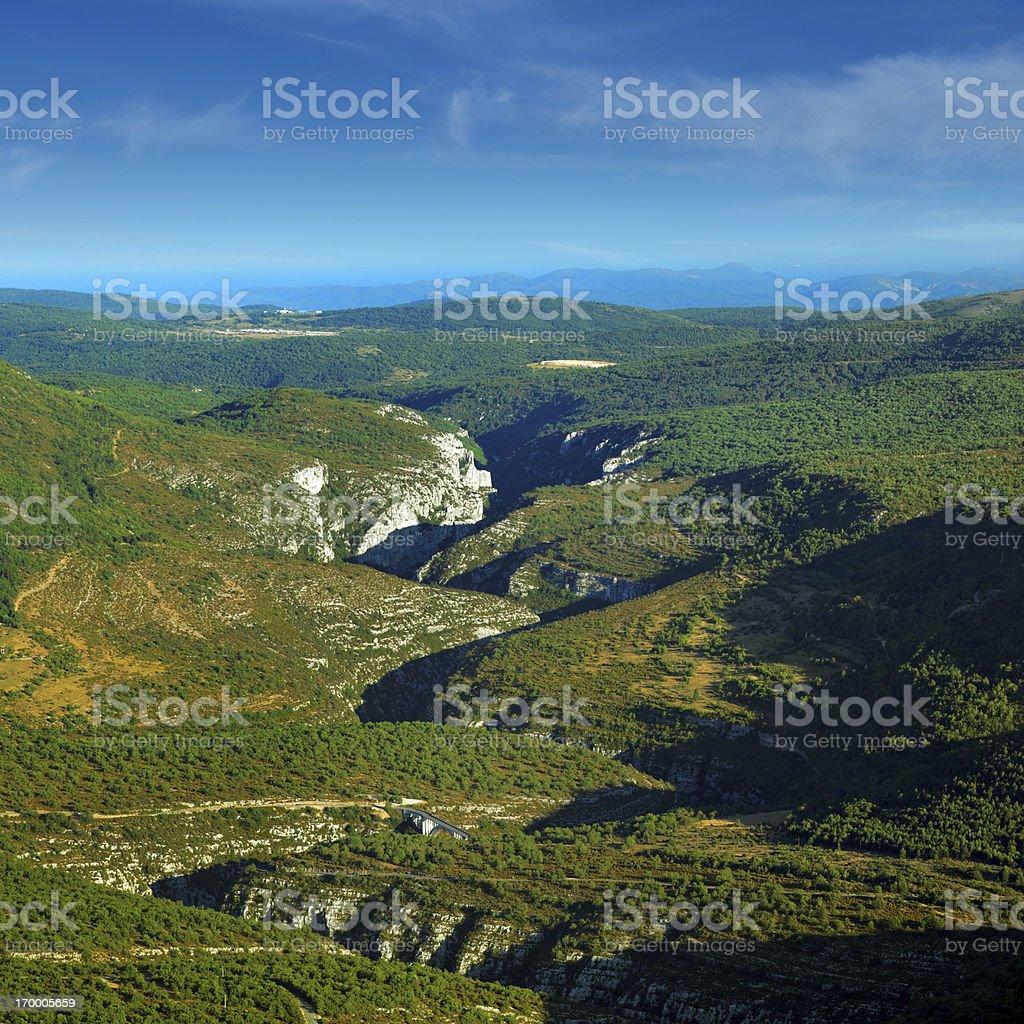 Verdon Gorge  (Gorges du Verdon) stock photo