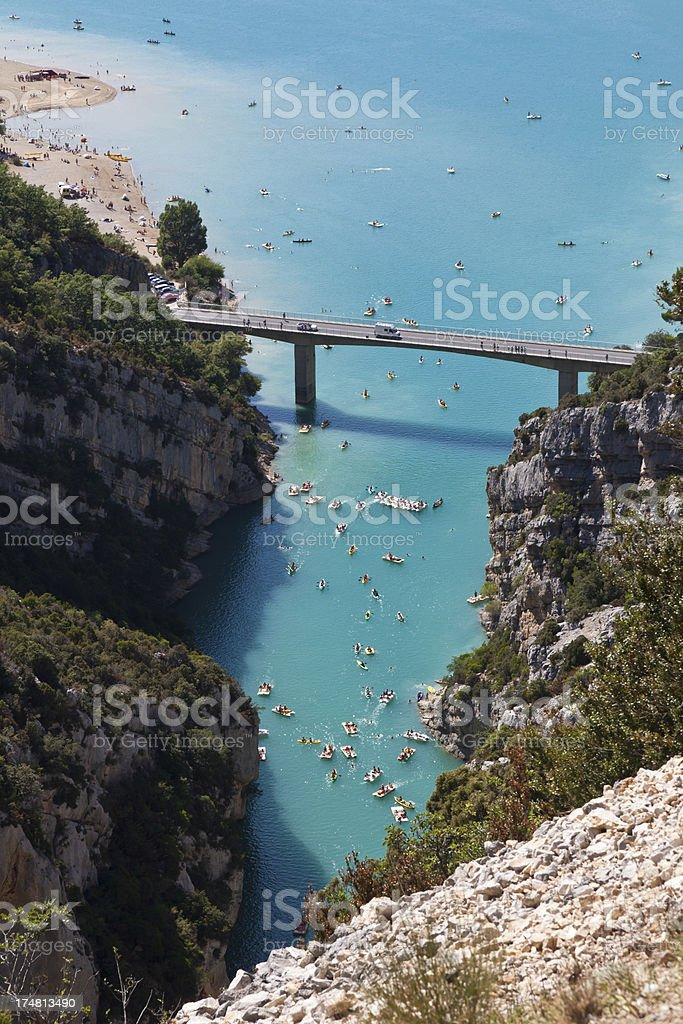 Verdon Gorge stock photo