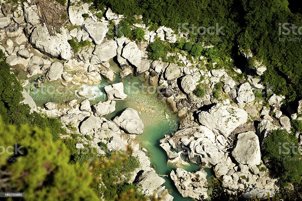 Verdon river in France royalty-free stock photo