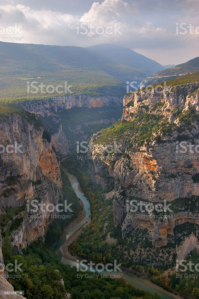 Verdon - the deepest canyon in the Europe. stock photo