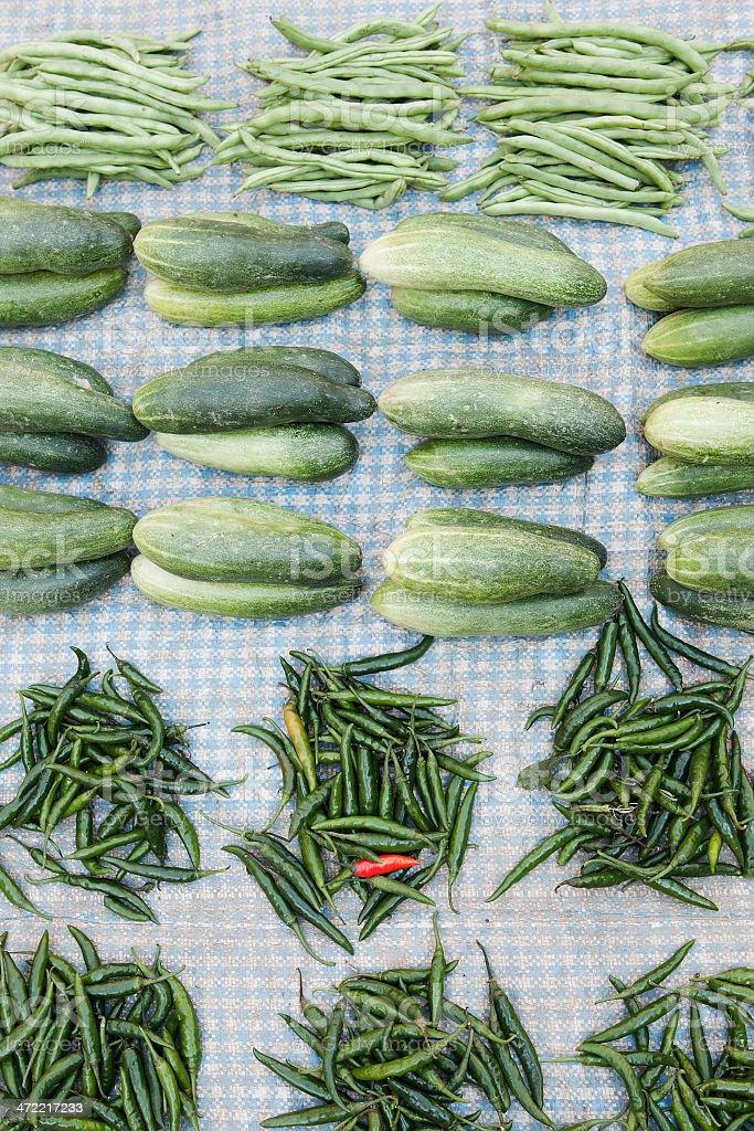 Verdura asiatica al mercato stock photo