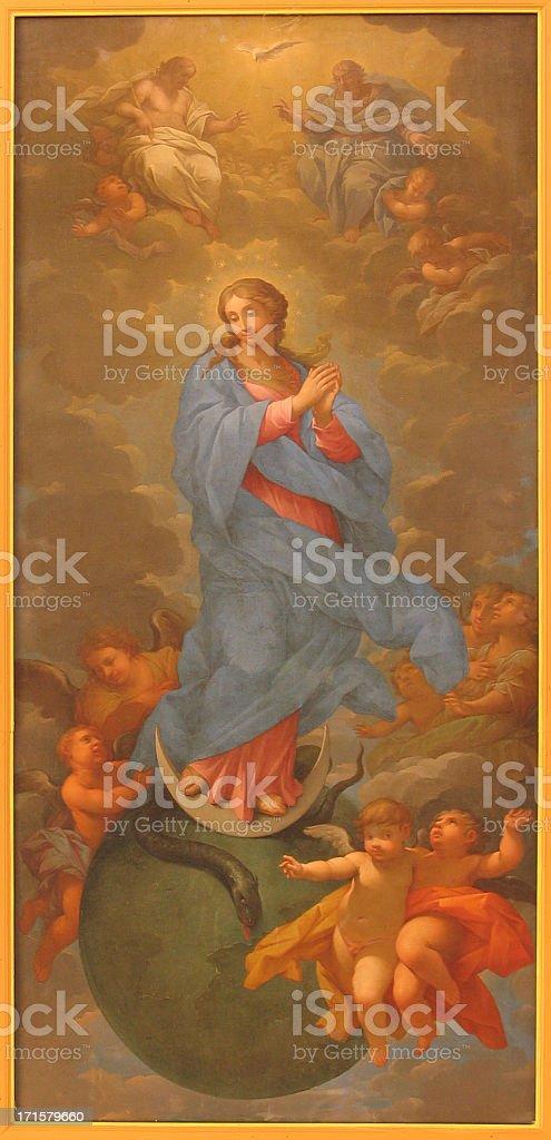 Vergin Mary - Santa Maria - Immaculate Conception stock photo