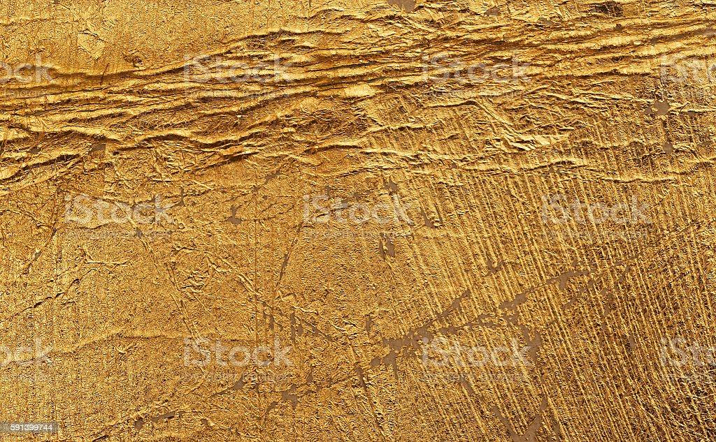 Vergoldete Oberfläche stock photo