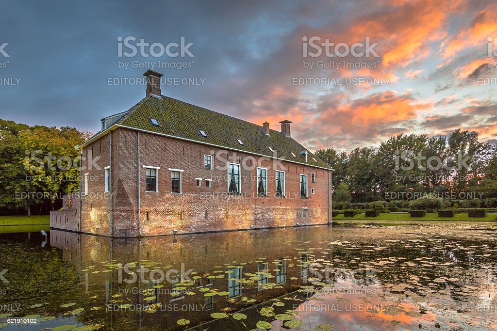 Verhildersum fortified house stock photo
