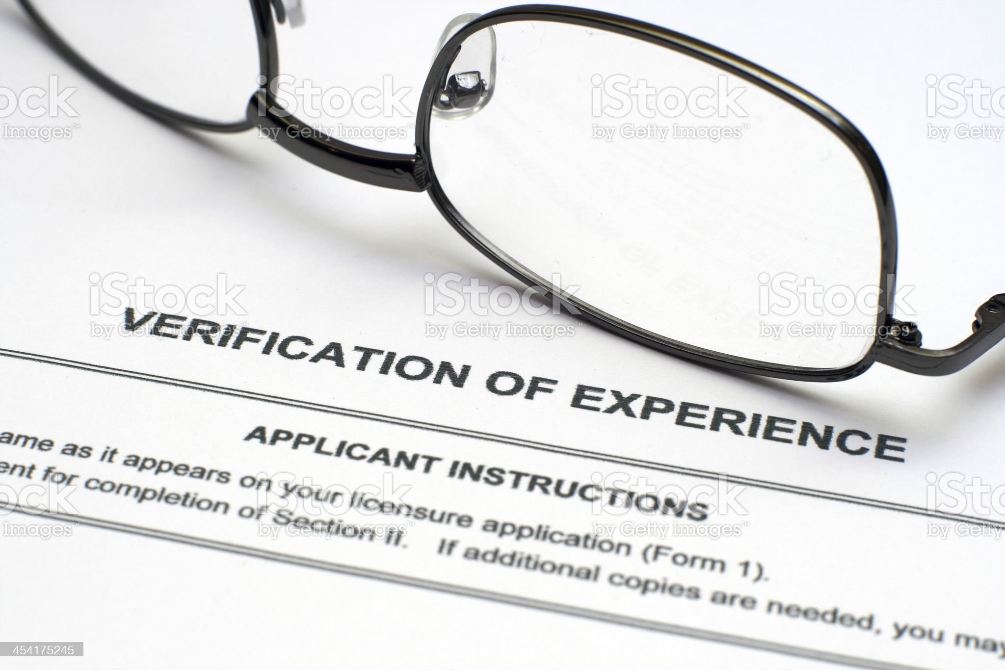 Verification of experience royalty-free stock photo