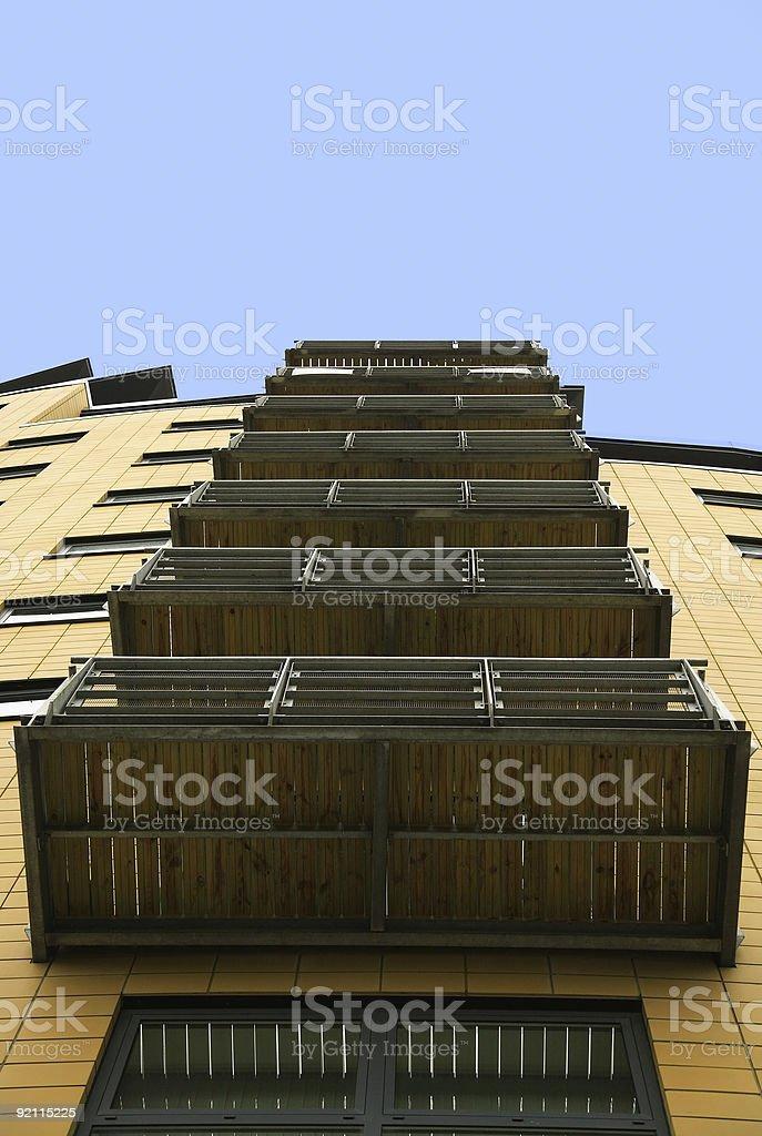 Veritcal balconies royalty-free stock photo
