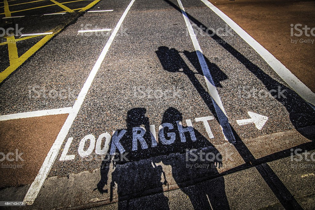 Verkehrserziehung stock photo