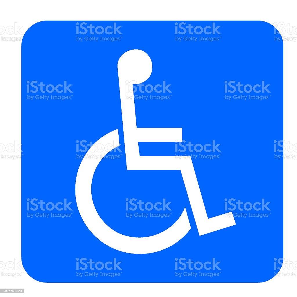 Verkehrsschild Behinderten stock photo