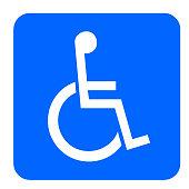 Verkehrsschild Behinderten