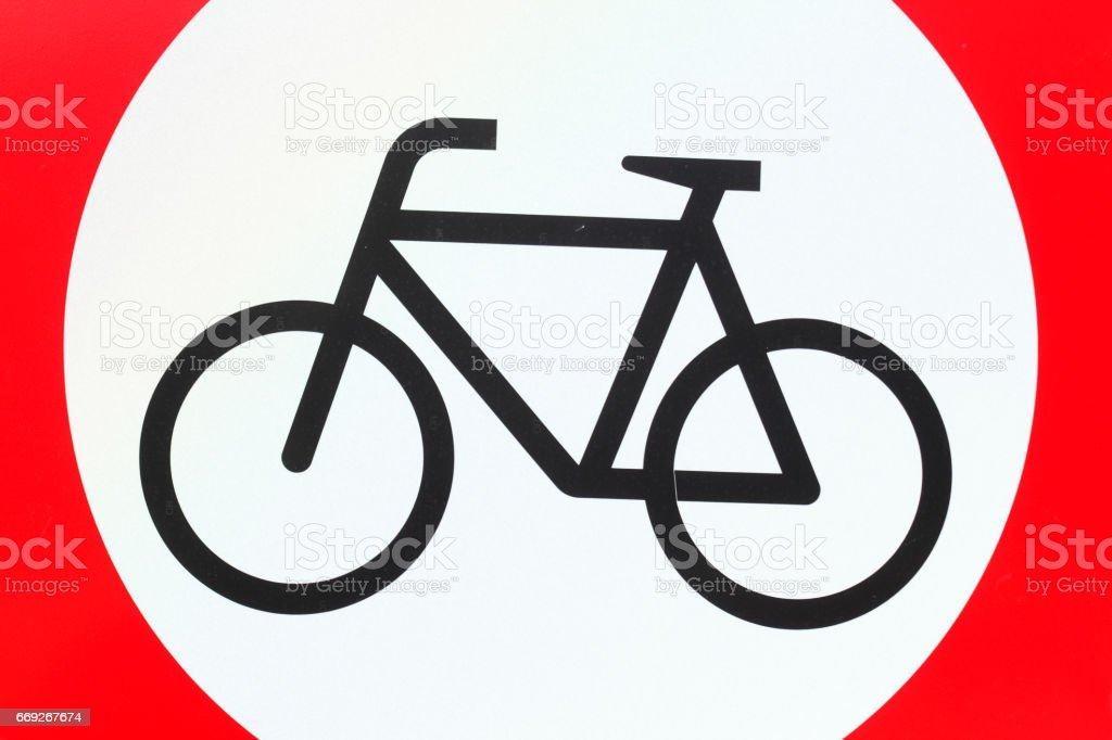 Verkehrsschild für Radfahrer verboten stock photo