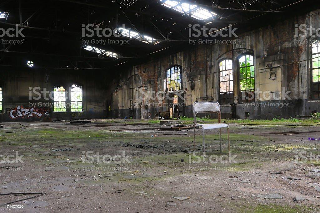 verlassene Fabrik stock photo
