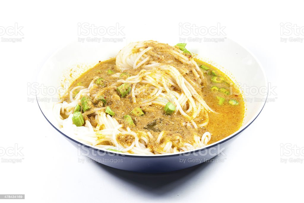 vermicelli eaten with curry Thai Food. royalty-free stock photo