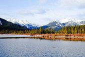Vermilion Lake in Winter, Canadian Rockies, Alberta, Canada