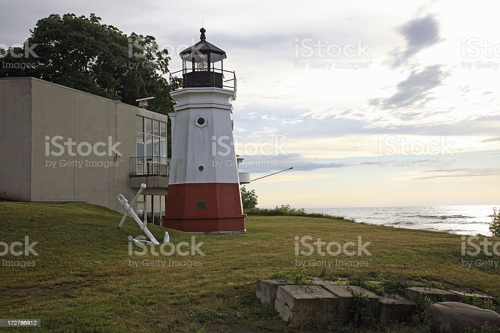 Vermilion Lighthouse 1877 stock photo
