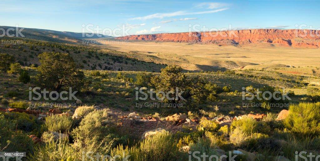 Vermillion Cliffs panorama stock photo