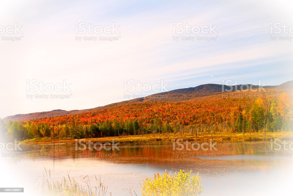 Vermont Autmn Vignette stock photo