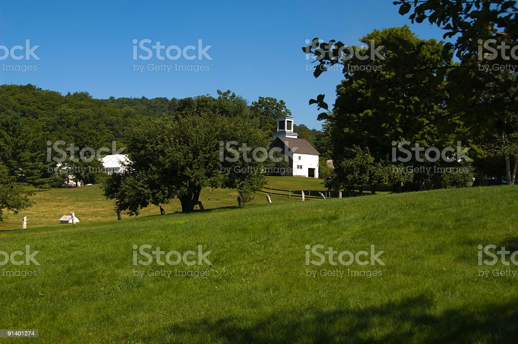 Vermont Country Estate stock photo