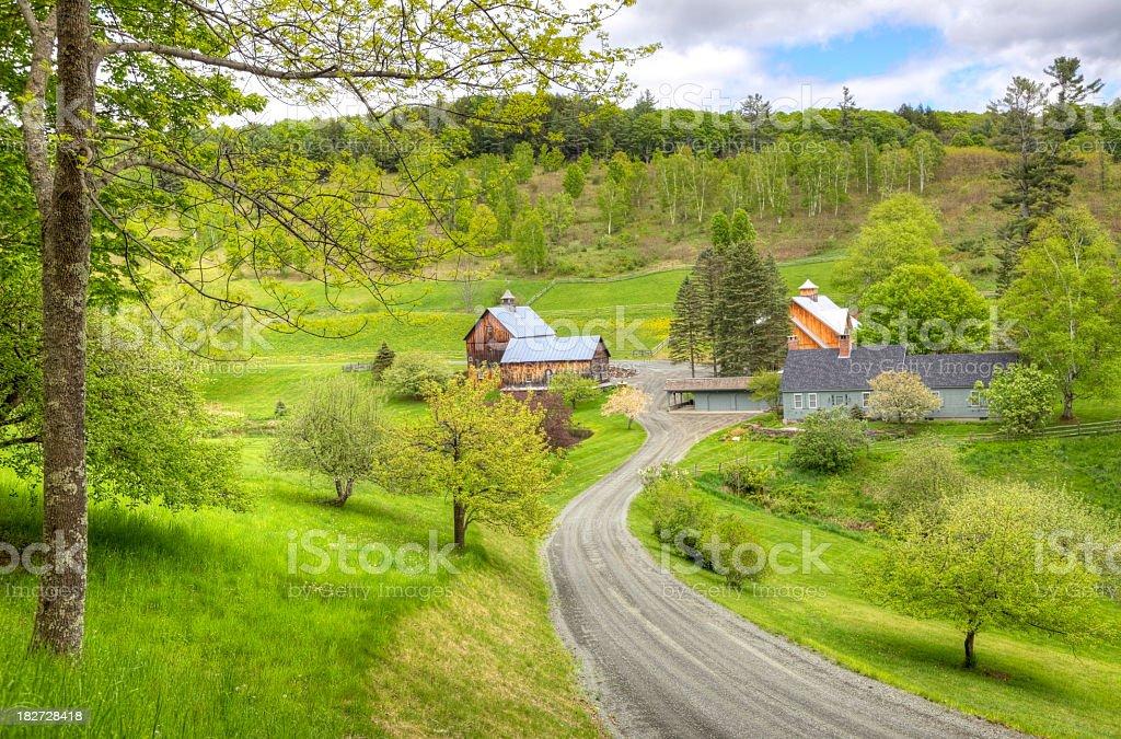 Vermont Countryside stock photo