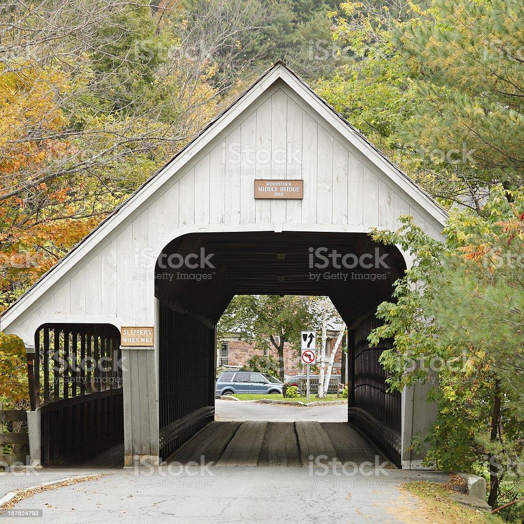 Vermont Covered Bridge stock photo