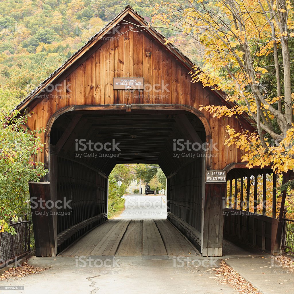 Vermont Covered Bridge royalty-free stock photo