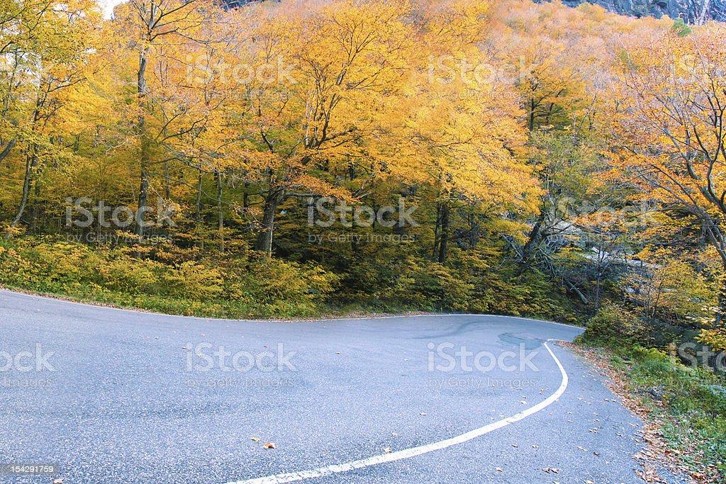 Vermont fall foliage, New England, US stock photo