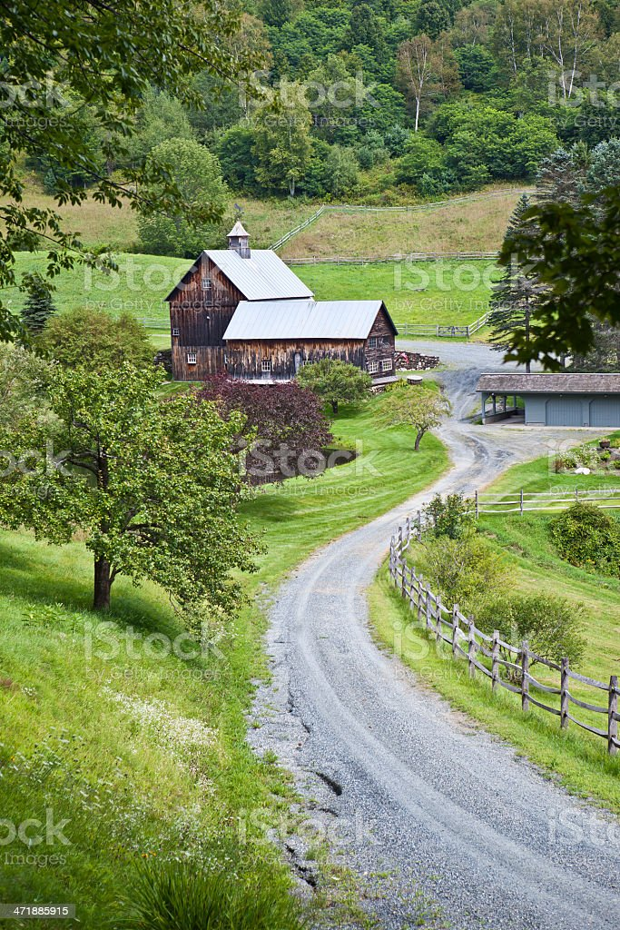 Vermont Farm stock photo