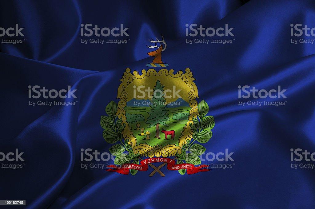Vermont flag stock photo