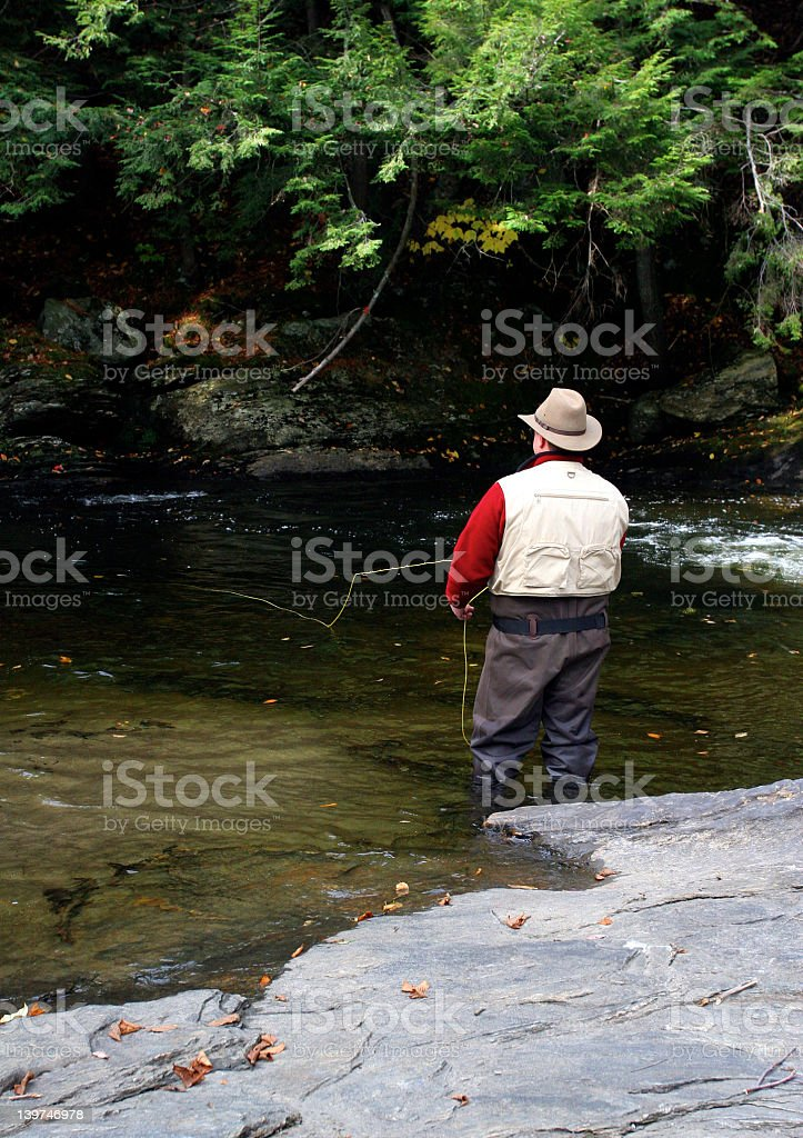 Vermont Fly Fishing royalty-free stock photo