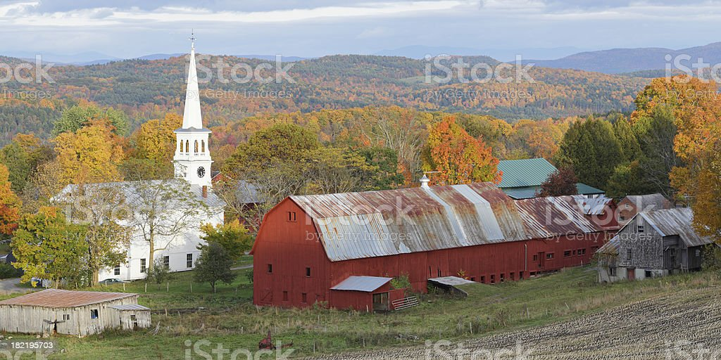 Vermont in Autumn royalty-free stock photo