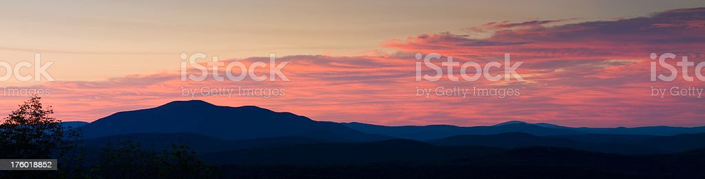 Vermont Mountains at Sunrise stock photo